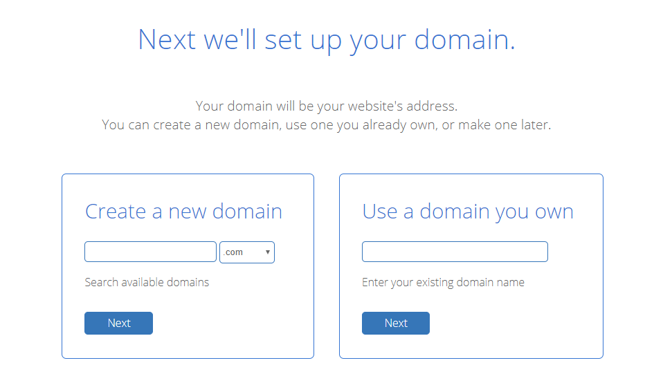 bluehost domain name choose